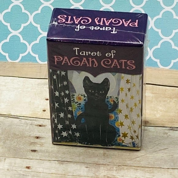 Tarot of Pagan Cats Mini Deck Lo Scarabeo New Seal